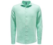Leinenhemd Haifisch-Kragen mintgrün