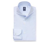 Business Hemd 'Sergio Napoli' Haifisch-Kragen hellblau/weiß