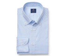 Casual Hemd 'Stefano' Button-Down-Kragen hellblau