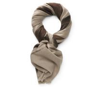 Schal beige/dunkelbraun