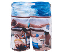 Badeshorts 'Bulldog On Deck' blau