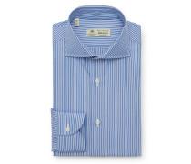 Business Hemd 'Nando' Haifisch-Kragen graublau/weiß