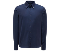 Casual Hemd 'Malin' Button-Down-Kragen navy