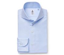 Oxford-Hemd 'Milano' Haifisch-Kragen hellblau