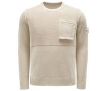 R-Neck Pullover beige