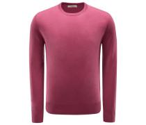 Cashmere R-Neck Pullover violett
