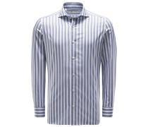 Casual Hemd Haifisch-Kragen grau/blau/weiß