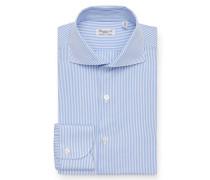 Business Hemd 'Eduardo Milano' Haifisch-Kragen hellblau/weiß