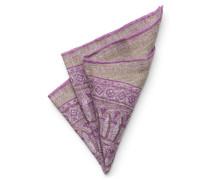 Einstecktuch graubraun/violett