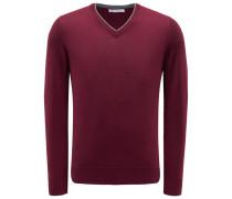 Cashmere V-Neck Pullover bordeaux