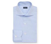Business Hemd 'Eduardo Napoli' Haifisch-Kragen hellblau/weiß