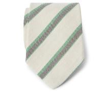 Krawatte creme/braun/grün