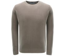 R-Neck Pullover graubraun