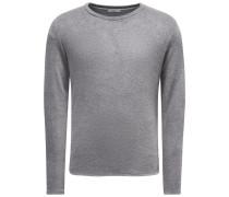 Frotteesweatshirt mit Rundhals 'Veit' grau
