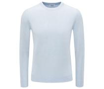 Cashmere R-Neck Pullover pastellblau