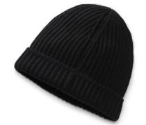 Cashmere Mütze schwarz