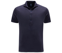 Leinen-Poloshirt navy