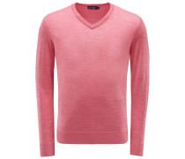 Merino V-Neck Pullover magenta