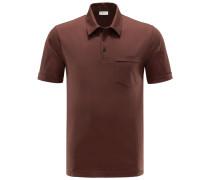 Jersey-Poloshirt 'Hedland' braun