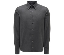 Casual Hemd 'Malin' Button-Down-Kragen dunkelgrau