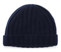 Cashmere Mütze dunkelblau