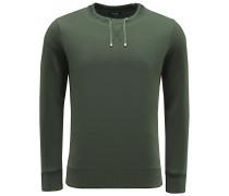 R-Neck Sweatshirt 'Drawstring' dark olive