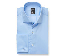 Business Hemd 'Mivara Tailor Fit' Haifisch-Kragen hellblau