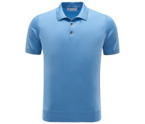 Jersey-Poloshirt hellblau