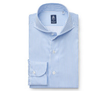 Business Hemd 'Sergio Napoli' Haifisch-Kragen blau/weiß