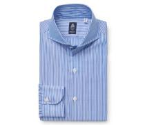 Business Hemd 'Napoli' Haifisch-Kragen blau