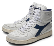 High Top Sneaker 'Mi Basket Used' offwhite/navy