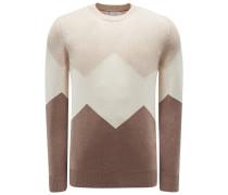 Cashmere R-Neck Pullover hellbraun/beige