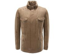 Leinen-Field Jacket 'Traveller' beige