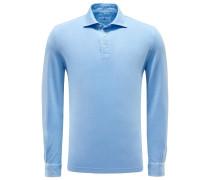 Longsleeve-Poloshirt hellblau