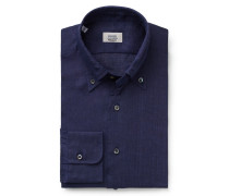 Leinenhemd Button-Down-Kragen navy