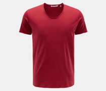 V-Neck T-Shirt 'Aurel' bordeaux