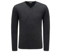 Cashmere V-Neck Pullover anthrazit