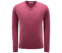 Cashmere V-Neck Pullover violett
