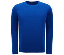 R-Neck Pullover blau