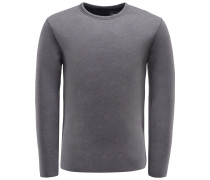 R-Neck Sweatshirt 'Raw Scuba' dunkelgrau
