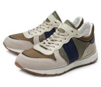 Sneaker hellgrau/oliv