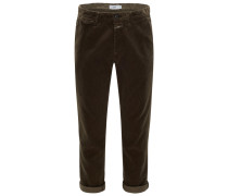 Cordhose 'Atelier Cropped' dark olive