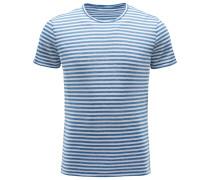 R-Neck T-Shirt rauchblau/weiß