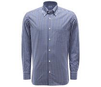 Casual Hemd Button-Down-Kragen dunkelblau/weiß