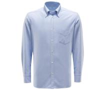 Oxfordhemd Button-Down-Kragen hellblau