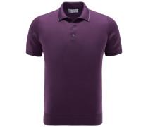 Jersey-Poloshirt violett