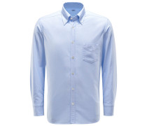 Oxfordhemd Button-Down-Kragen pastellblau