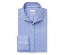Jersey-Hemd Haifisch-Kragen hellblau