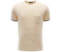 Frottee R-Neck T-Shirt 'Rodi' beige