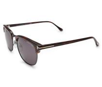 Sonnenbrille 'Henry' schwarz/dunkelgrün